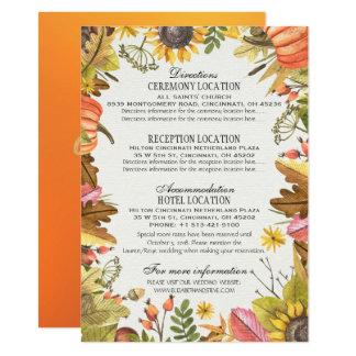 Herbst verlässt Kürbise Wedding Karte