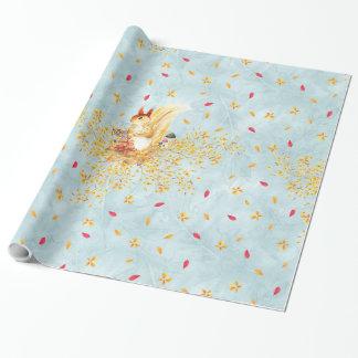 Herbst verlässt Muster Einpackpapier
