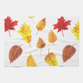 Herbst verlässt Muster Geschirrtuch
