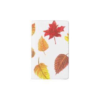 Herbst verlässt Muster Moleskine Taschennotizbuch
