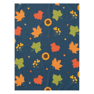 Herbst verlässt Muster Tischdecke