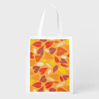 Herbst verlässt Muster Wiederverwendbare Einkaufstasche