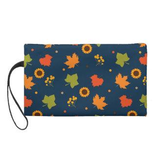 Herbst verlässt Muster Wristlet Handtasche