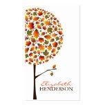 Herbst verlässt Pop-Baum-Natur-Geschäfts-Karte Visitenkarten Vorlage