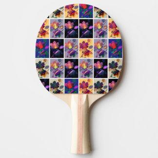 Herbst verlässt rustikale tischtennis schläger