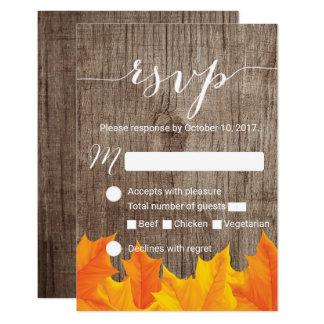 Herbst verlässt rustikales Hochzeit UAWG Karte