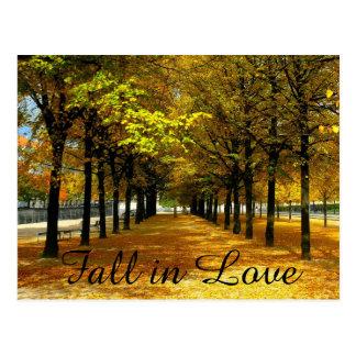 Herbst verlässt Save the Date Postkarte