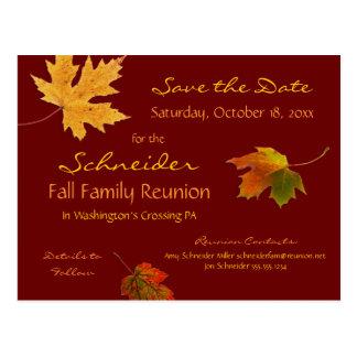 Herbst verlässt Wiedersehen, Party, Ereignis Save Postkarte