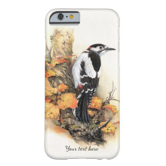 Herbst-Vogel und Blätter iPhone 6 Fall Barely There iPhone 6 Hülle