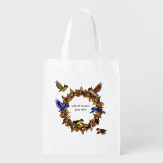 Herbst-Vögel Wiederverwendbare Einkaufstasche