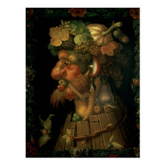 Herbst, von einer Reihe, welche die vier darstellt Postkarte