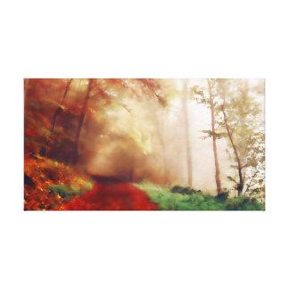 Herbst-Wald Leinwanddruck
