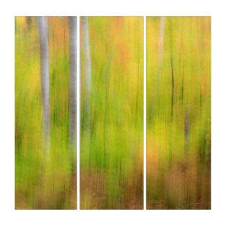 Herbst-Waldland | Michigan, obere Halbinsel Triptychon