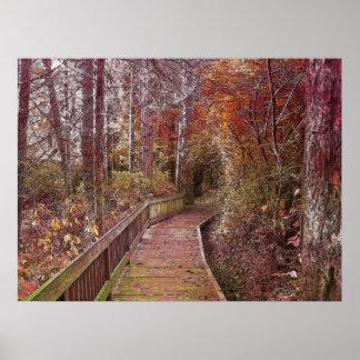 Herbst-Weg Poster