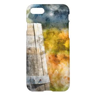 Herbst-Wein-Fass in einem Weinberg iPhone 8/7 Hülle
