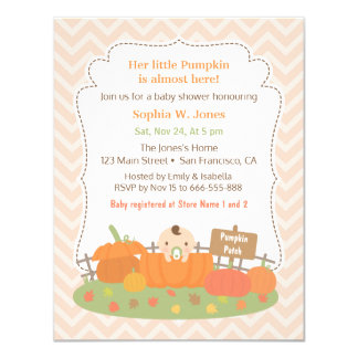 Herbst Wenige Kürbis Babyparty Einladungen 10,8 X 14 Cm Einladungskarte