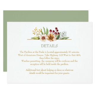 Herbst-Wildblumenwatercolor-Hochzeits-Salbei Karte