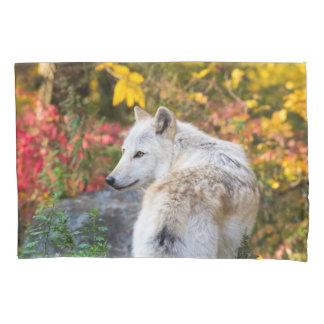 Herbst-Wolf Kissenbezug