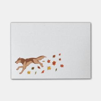Herbst-Wolf Post-it Klebezettel