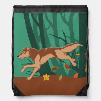 Herbst-Wolf Turnbeutel