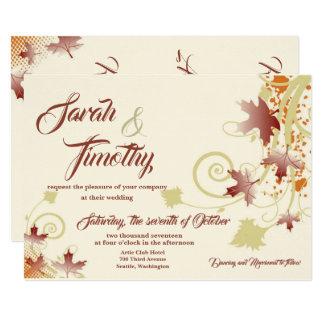 Herbst wünscht, dass das Wedding 12x18 einladen Karte