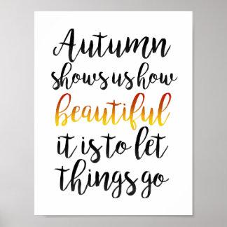 Herbst zeigt uns poster