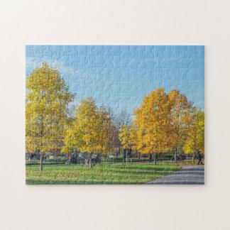 Herbstbaum-Fotopuzzlespiel Puzzle