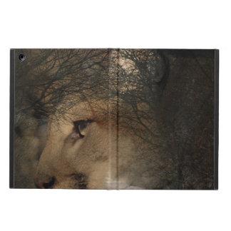 Herbstbaum-Silhouette-Gebirgslöwe wilder Cougar