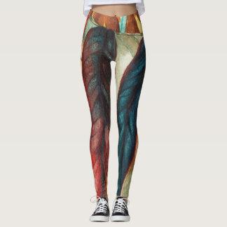 Herbstblatt färbt ursprüngliche stilisierte leggings