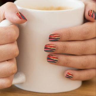 Herbstblatt färbt ursprüngliche stilisierte minx nagelkunst