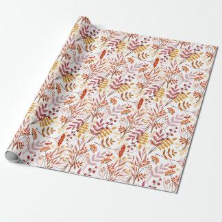Herbstblumenstrauß-Aquarellmuster Geschenkpapier