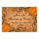 Herbsterntekürbis Erntedank-Abendessen-12x18 Individuelle Einladungskarte