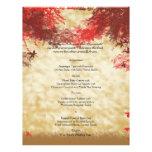 Herbstfarben: Burgunder und rotes Flyerbedruckung