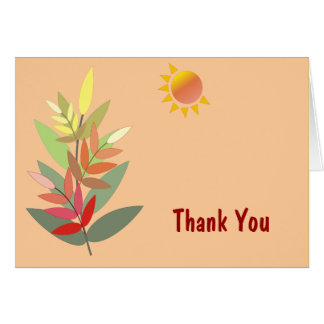 Herbstfarben danken Ihnen zu kardieren Karte