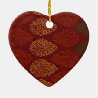Herbstfarben erinnert keramik Herz-Ornament