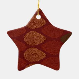 Herbstfarben erinnert keramik Stern-Ornament