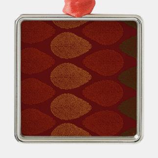 Herbstfarben erinnert quadratisches silberfarbenes ornament