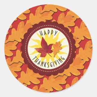Herbstfarben-glücklicher Erntedank Runder Aufkleber
