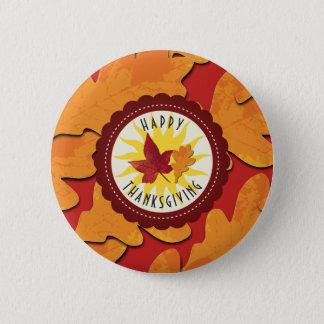 Herbstfarben-glücklicher Erntedank Runder Button 5,7 Cm