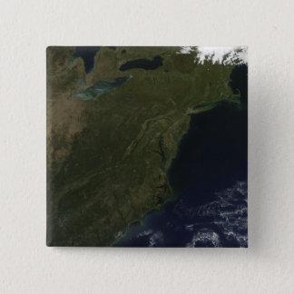 Herbstfarben in den nordöstlichen Vereinigten Quadratischer Button 5,1 Cm