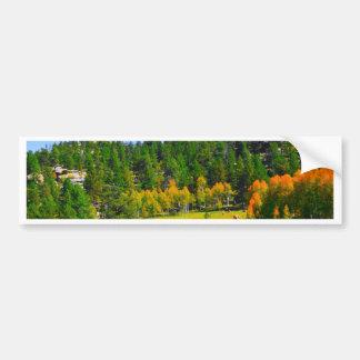 Herbstfarben in den Rockies Autoaufkleber
