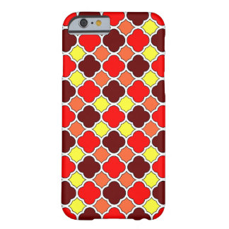 Herbstfarben Quatrefoil iPhone 6 dünner Fall Barely There iPhone 6 Hülle