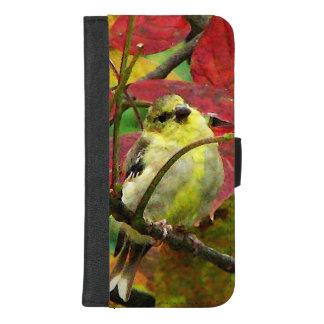 Herbstgoldfinch-Vogel iPhone 8/7 iPhone 8/7 Plus Geldbeutel-Hülle
