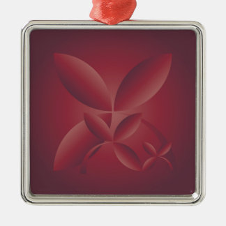 Herbsthochrot Silbernes Ornament