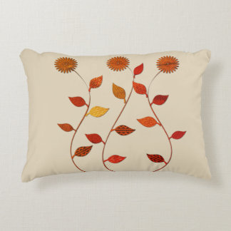 Herbstkollektion-helles Blumenkissen Dekokissen