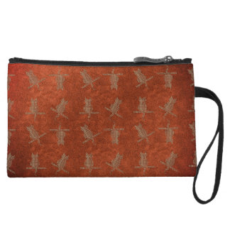 Herbstkollektion-orange lederne lustige kleine clutch
