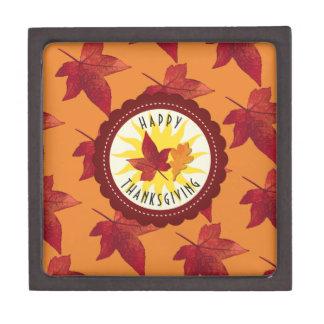 Herbstlaub-Ahorn-Erntedank Schmuckkiste