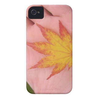 Herbstlaub an Hand iPhone 4 Etuis
