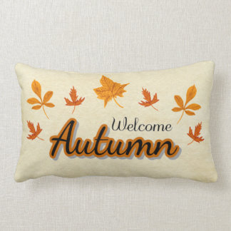 Herbstlaub begrüßt Herbst Lendenkissen