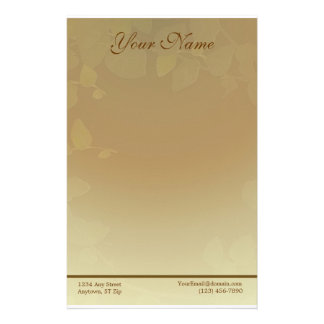 Herbstlaub-Briefpapier Briefpapier